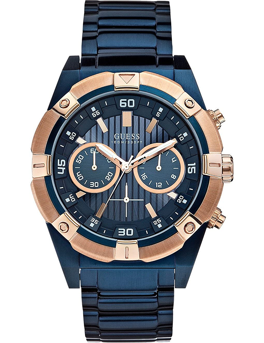 GUESS Blue Dial Analogue Watch for Men (W0377G4)