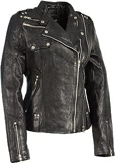 Milwaukee Leather Women's Double Zipper Asymmetrical Moto Jacket (5X-LARGE)