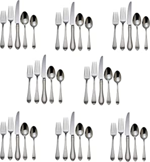 Reed & Barton Hammered Antique 18/10 Stainless Steel - 40 Piece Set (Service for Eight)