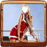 la donna abito corto macchina fotografica della foto