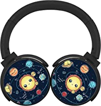 Nine Planets Mobile Wireless Bluetooth Customized Over Ear Headphones Black