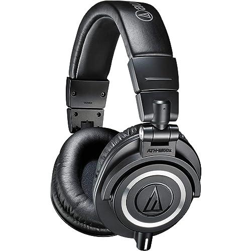 Audio-Technica ATH-M50X Casque audio professionnel de monitoring avec câble détachable Noir