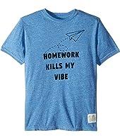 Homework Kills My Vibe Streaky Tri-Blend Tee (Big Kids)