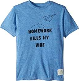 Homework Kills My Vibe Streaky Tri-Blend Tee (Big Kids)