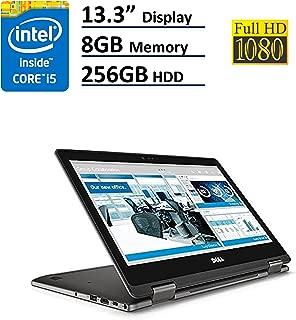 Model Dell Latitude 3000 3379 2-IN-1 Business Laptop: 13.3in TouchScreen FHD (1920x1080), Intel Core i5-6300U, 256GB SSD, 8GB RAM, Backlit Keyboard, Windows 10 Pro - Gray (Renewed)