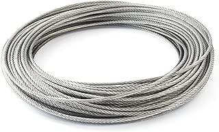 7x7 65m c/âble acier inox 3mm cordage torons