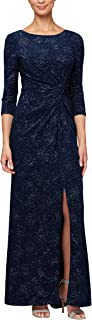 Alex Evenings Women's Long Dress with Knot Front Detail...