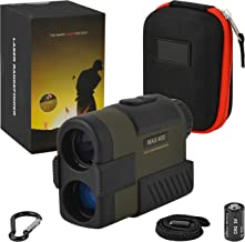 Range Finder for Golf | Bow | Rifle | Hunting | Shooting |Archery | Best Laser Golf RANGEFINDER with Slope ON & OFF | Distance | Scan | Target Lock | 400+ Yard | Waterproof | Free Battery
