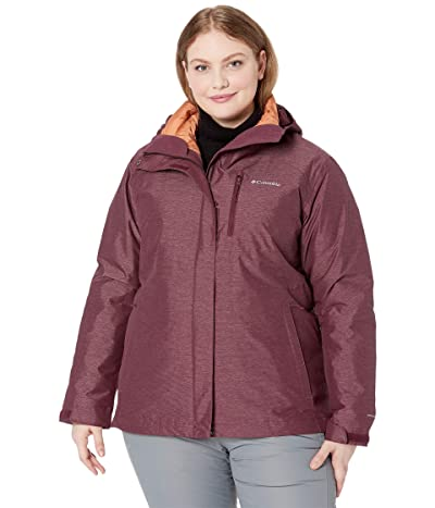 Columbia Plus Size Whirlibird IV Interchange Jacket (Seminole Cross-Dye/Nova Pink) Women