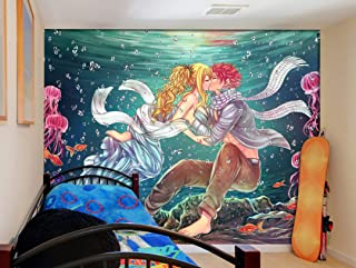 """3D Fairy Tail 110 Japan Anime Wall Paper Print Decal Deco Indoor Wall Mural Self-Adhesive Wallpaper MXY Wallpaper US Angelia (Woven Paper (Need Glue), 【205""""x114""""】520x290cm(WxH))"""