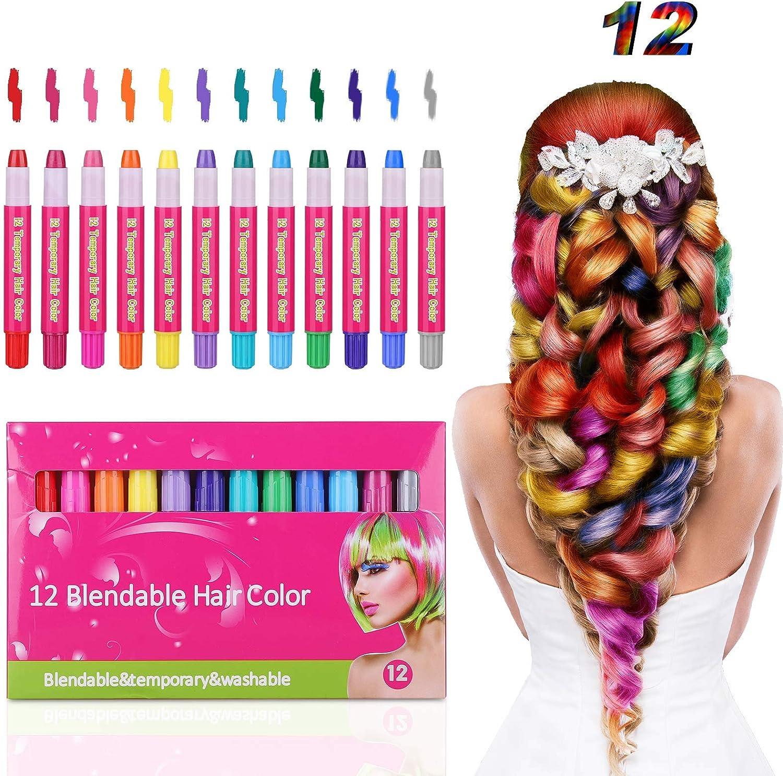 Hair Rare Chalk Pens Tiaoyeer 12 Kids Temporary Colors High quality new Sal