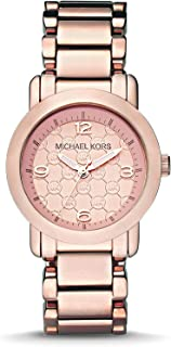 Michael-Kors Exclusive - Michael Kors Rose Gold-Tone Stainless-Steel Three-Hand Watch MK3159