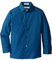 Long Sleeve End on End Gingham Shirt (Little Kids)