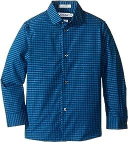 Long Sleeve End on End Gingham Shirt (Little Kids)
