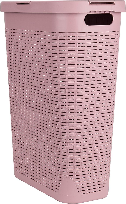 Mind Reader 40 Liter Slim Basket Bin Handles National uniform free shipping Max 70% OFF Washing Cutout D