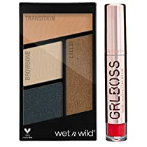Wet n Wild Color Icon Eyeshadow Quads, Hooked On Vinyl, 4.5g with free GRLBOSS Lips STRENGTH