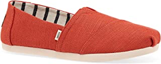 TOMS Heritage Canvas Womens Espadrilles 38.5 EU Red