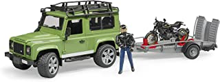 Bruder Land Rover Station Wagon with Trailer, Scrambler Ducati Café, Multi-Colour