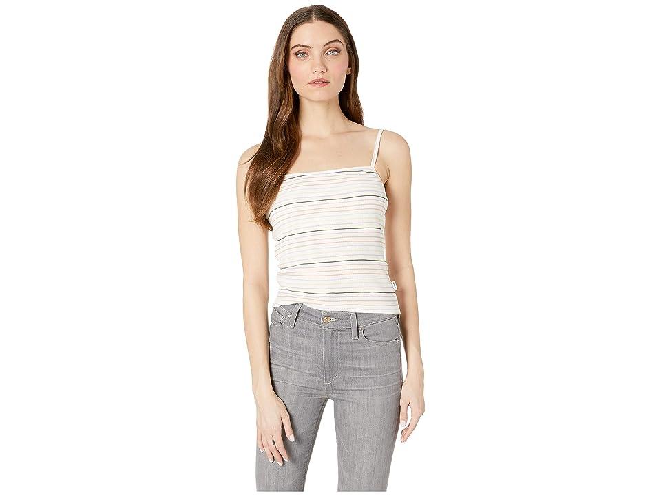 RVCA Tally Striped Cami Tank Top (Whisper White) Women