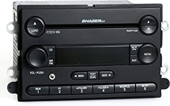1 Factory Radio AM FM 6 Disc CD Shaker 500 Stereo w Aux Input Compatible With 2007 Ford Mustang 7R3T-18C815-HF