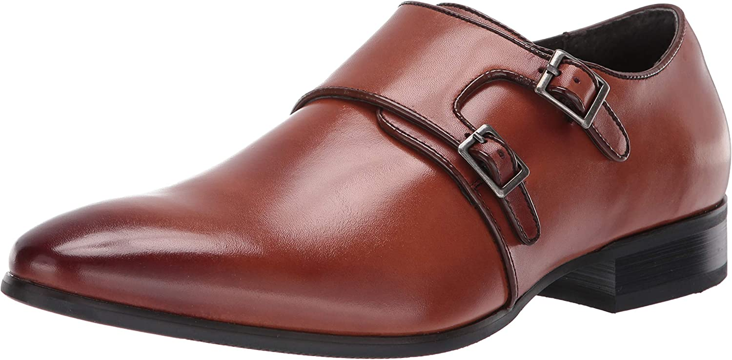 Stacy Stacy Stacy Adams Mens Vance Plain Toe Double Monk Strap Dress Loafer  mer ordning