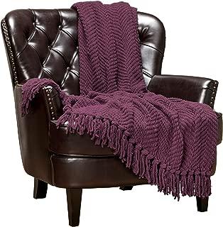 plum coloured sofa throws
