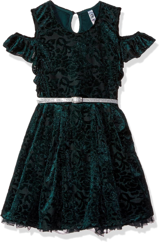 Beautees Girls' Big Cold Shoulder Dress
