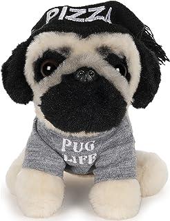 قبعة بيتزا GUND Doug the Pug Pizza Hat Plush Stuffed Animal Dog، 5