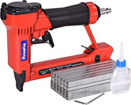 "Dynastus Pneumatic Upholstery Staple Gun, 22 Gauge 3/8"" Wide Crown Air Stapler Kit,.."