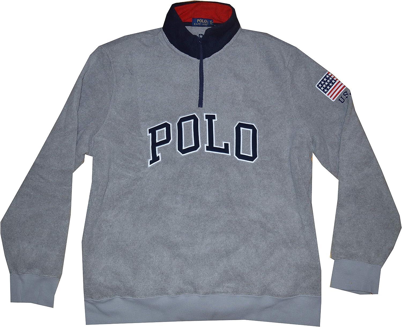 Ralph Lauren Polo Men's American Flag Fleece Long Sleeve Pullover