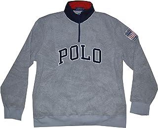 Polo Men's American Flag Fleece Long Sleeve Pullover