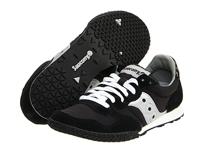 Retro Sneakers, Vintage Tennis Shoes Saucony Originals Bullet BlackSilver Womens Classic Shoes $54.95 AT vintagedancer.com