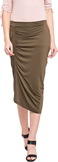 Globus Ruched Front Calf Length Skirt