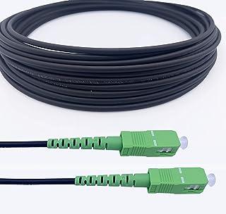 Elfcam Cables de Fibra Óptica Blindados SC/APC a SC/APC Monomodo Simple, Compatible con Orange, Movistar, Vodafone y Jazzt...