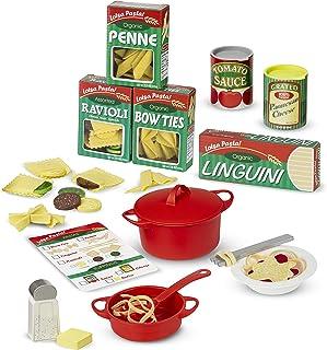 """Melissa & Doug ماکارونی ها را آماده و سرو کنید (قبل از پخش ، مجموعه آشپزخانه نمدی ، آسان برای استفاده ، ست 50+ تکه ، 10 اینچی """"X x 9"""" W x 3 """"L)"""