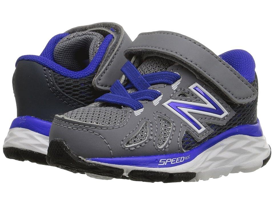 New Balance Kids 690V5 (Infant/Toddler) (Grey/Blue) Boys Shoes