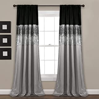 """Lush Décor Night Sky Panel for Living, Bedroom, Dining Room (Single Curtain), 84"""" x.."""