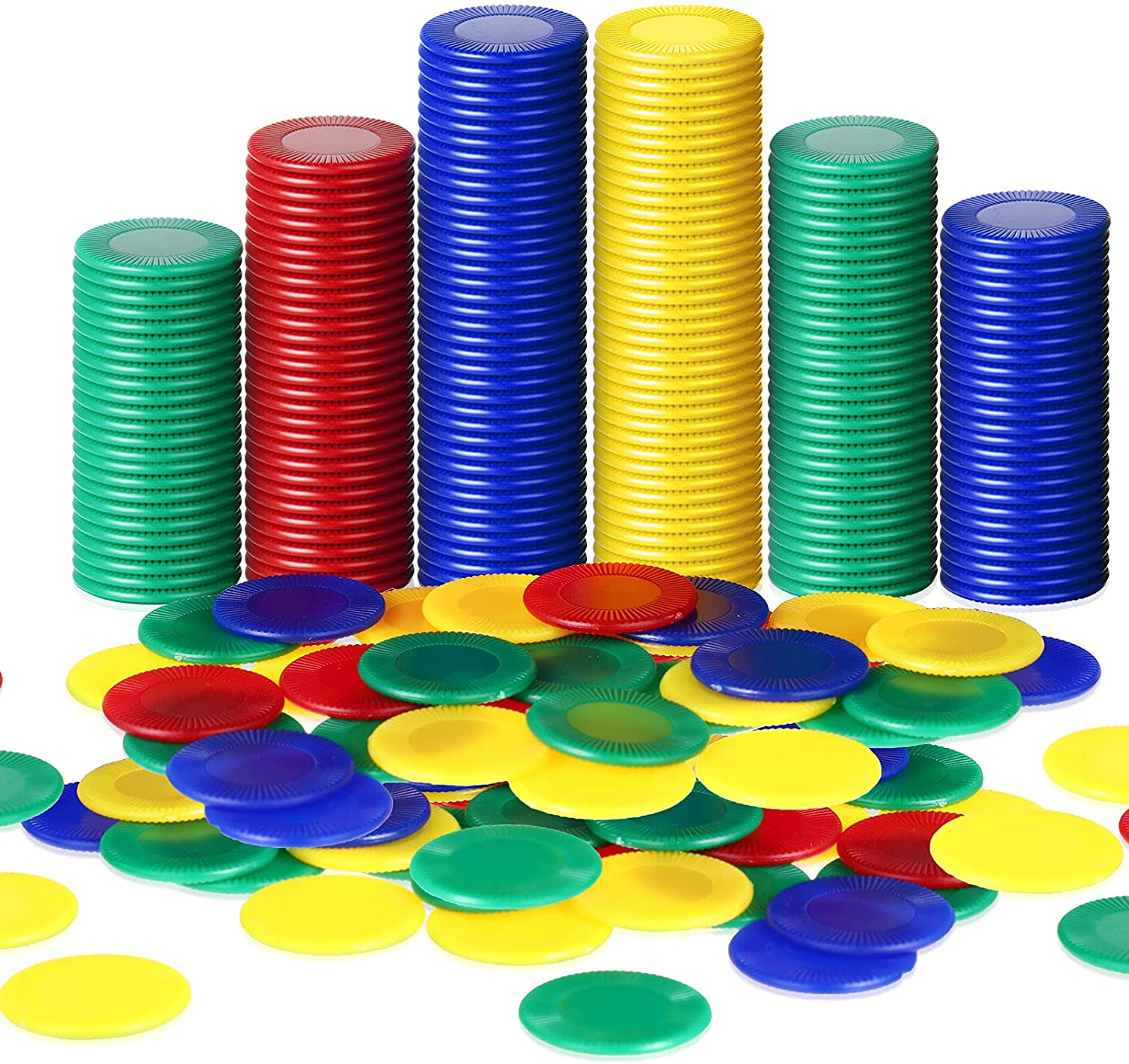 Skylety 400 Pieces Plastic Poker Count 35% OFF Chips New sales Colors Game 4