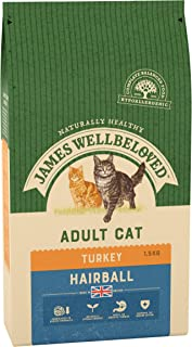 James Wellbeloved Dry Cat Food Turkey And Rice Hairball 1.5kg