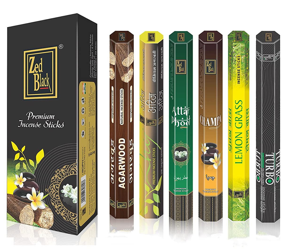 悲観的後ピースAromaプレミアムFragrance Sticks?–?パックof 6?–?Serene and Enthralling 120?Incense Sticks?–?Feel The natural fragrances with Scented Oil Sticks