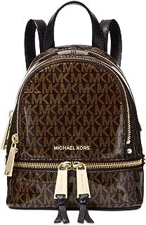 ddf67765e650 Michael Michael Kors Signature Glossy Rhea Extra Small Messenger Backpack,  Brown