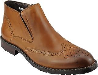 Xposed réel en Cuir pour Homme Marron Noir Derbies Chaussures Décontracté Smart Zip Vintage Boots UK Taille 6 12