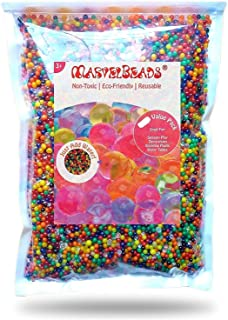 MarvelBeads Water Beads Rainbow Mix (Half Pound) for Spa...