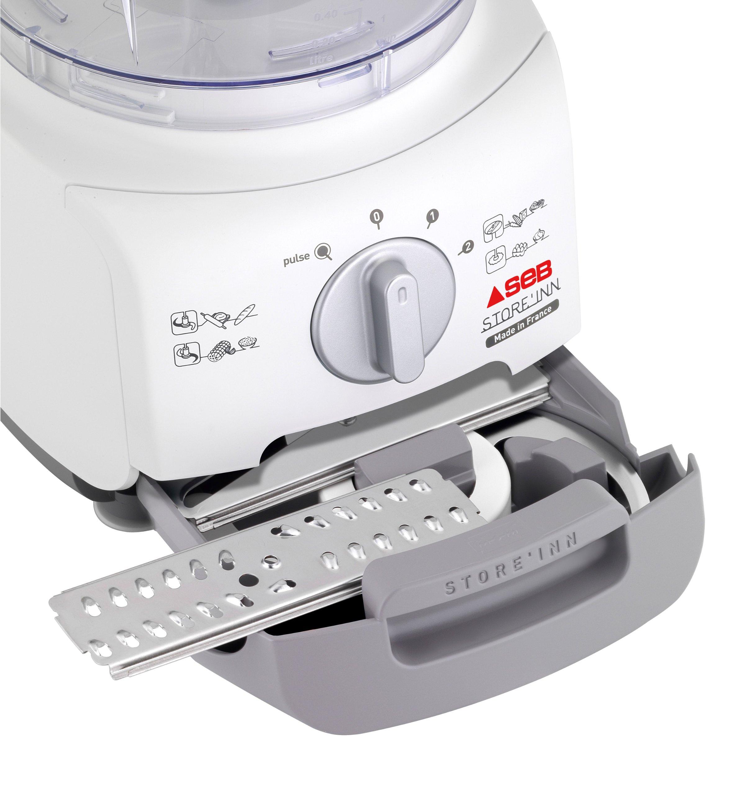 Seb DO221F00 - Procesador de alimentos, función de impulso, 750 W, 2 L, gris/blanco: Amazon.es: Hogar