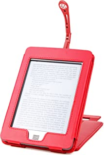 /Última Generaci/ón, Marzo 2012 Wi-Fi,6 De DURAGADGET Funda Negra De Cuero En Estilo De Libro Para El Nuevo Kindle Touch + Luz LED De Lectura Clip On