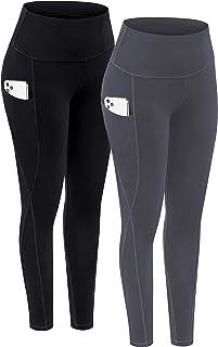 TOREEL Yoga Pants for Women with Pockets High Waisted Workout Leggings with Pockets for Women 2 Pack Leggings for Women