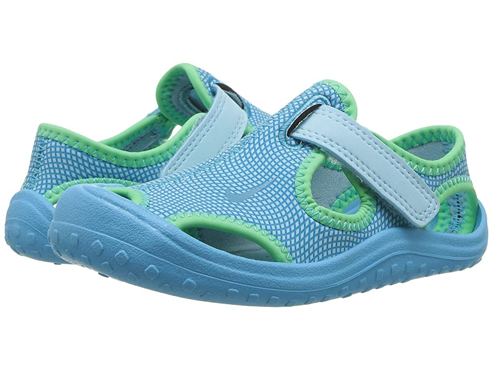 Nike Kids Sunray Protect (Infant/Toddler) (Still Blue/Chlorine Blue/Electro Green) Girls Shoes