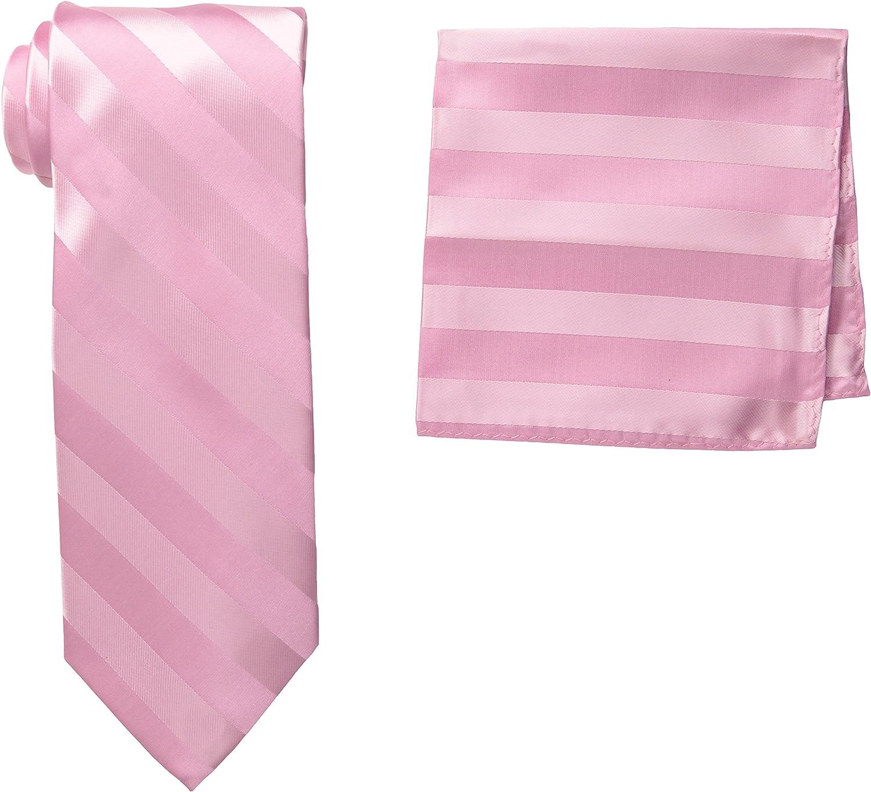 Stacy Adams Men's Extra Long Formal Stripe Tie Set