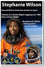 Stephanie Wilson - NEW African American NASA Astronaut Space Poster