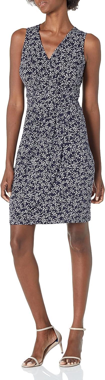 Lark & Ro Women's Standard Sleeveless Fix Wrap Gathered Skirt Dress